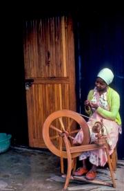 Woman Spinning Kabira Handicraft Center